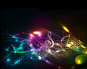 Fototapeta samoprzylepna Music colorful music note theme