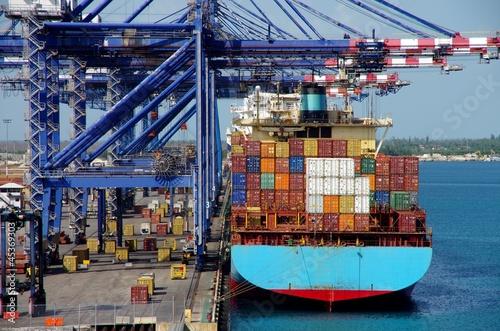 Fotografie, Obraz  port de commerce