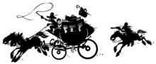 Western Stagecoach Pursued By ...