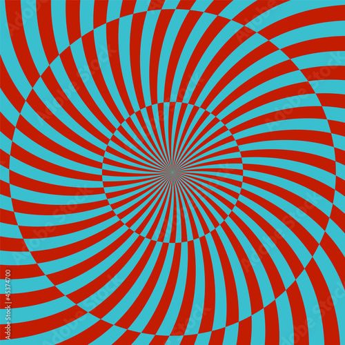 Tuinposter Psychedelic Retro style hypnotic background. vector illustration