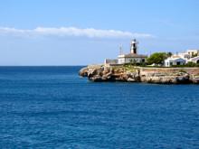 Lighthouse On The Coast Of The Mediterranean Sea