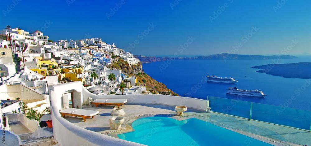 Fototapety, obrazy: luxury holidays -Santorini