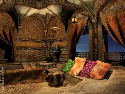 Fototapeta Wnętrze baśniowego arabskiego pałacu obraz