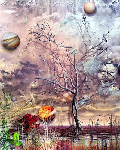 Papiers peints Imagination Autumn storm