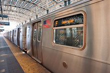 Subway Train At The End Of The...