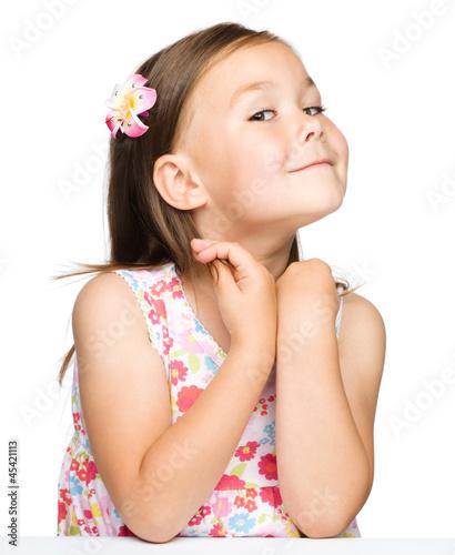 Foto op Plexiglas Beauty Portrait of a little girl