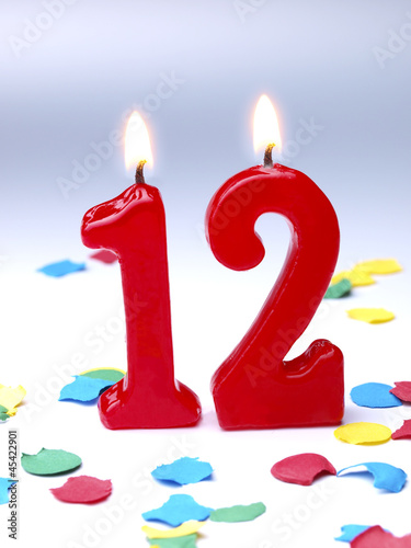 Birthday Candle Showing Nr 12