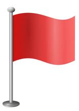Fahne Rot Leer