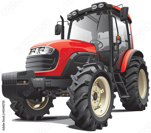 Photo red tractor