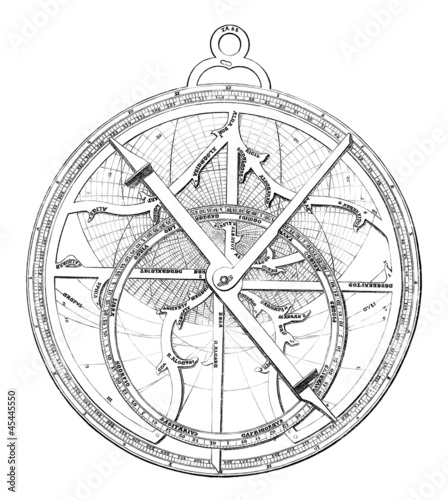 Photo  Ancient Astrolabe - 15th century