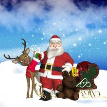 Father Christmas With Sleigh