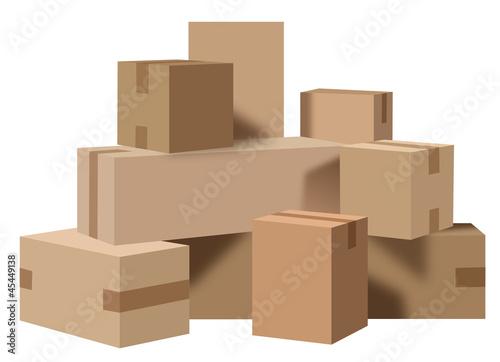 Fotografía  Boites carton déménagement