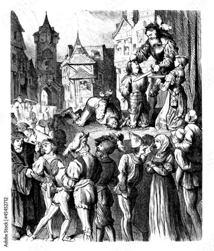 Fotografie, Obraz Medieval public Execution