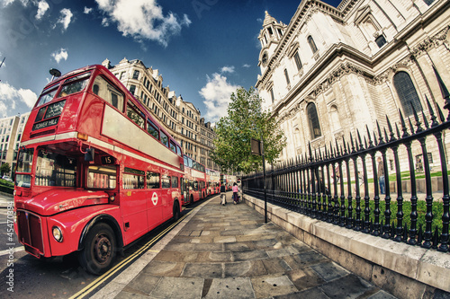 Fototapety, obrazy: Red Double Decker Bus, symbol of London