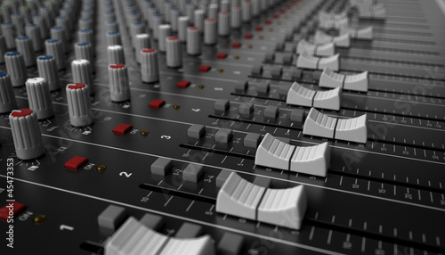 Fotografie, Obraz  table de mixage 2