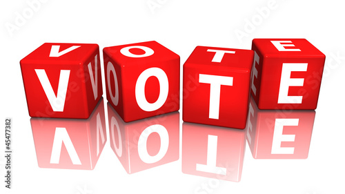 Obraz na plátne würfel cube vote 3D