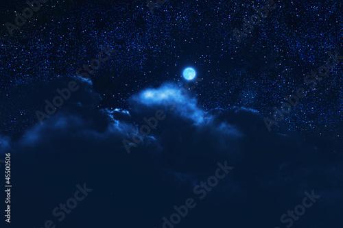 Fotobehang Volle maan 夜の月