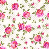 bright seamless rose background