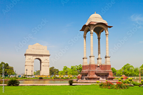 Stickers pour porte Delhi India Gate