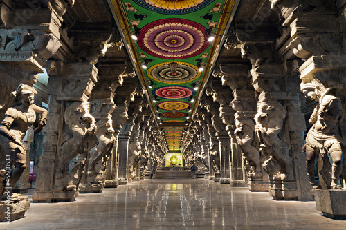 Foto op Plexiglas Bedehuis Meenakshi hindu temple