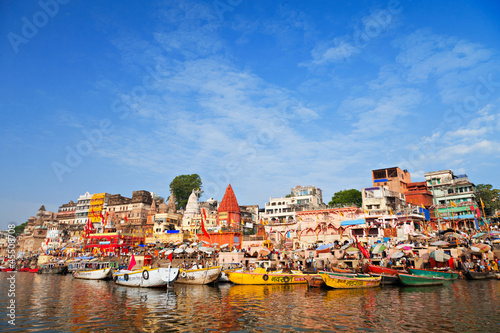 In de dag India Ghats on Ganga