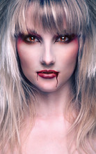 Portrait Of A Beautiful Blond ...