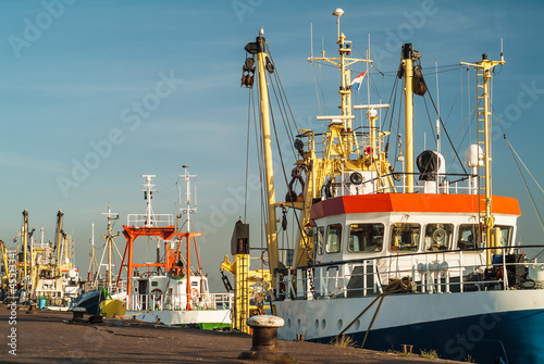 Fishing boats in The Netherlands Canvas-taulu