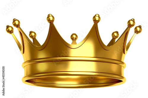 Gold crown Fototapet