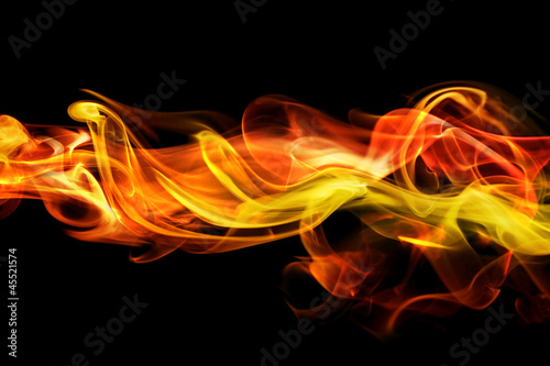 Fiery smoke background