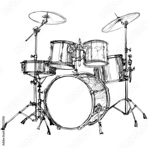 Photo sur Toile Art Studio drum kit