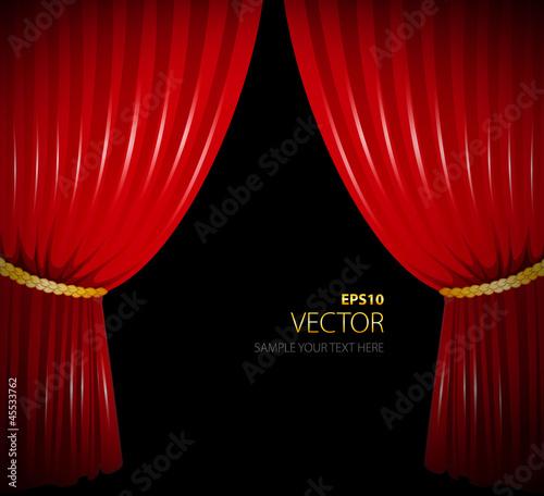 Fotobehang Stof Red curtain