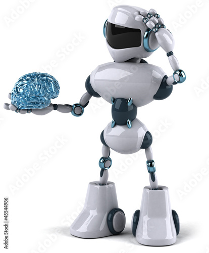 Tuinposter Robots Robot and brain