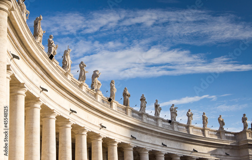 The colonnade of Saint Peter's Square Wallpaper Mural