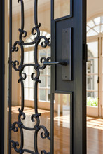 Angled View Of A Wrought Iron ...