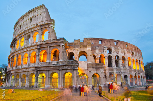 Photo  Colosseum at Dusk, Rome Italy