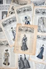 Vintage Clothing. Nostalgic Fashion Background