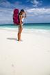Backpacker am Strand