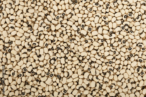 Fotografering Black eyes peas beans background texture