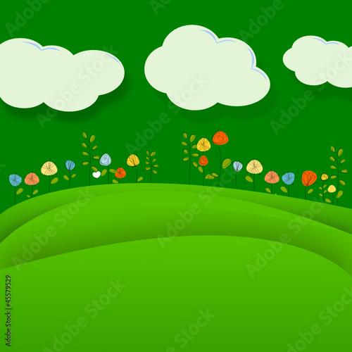 Tuinposter Groene Landschaft