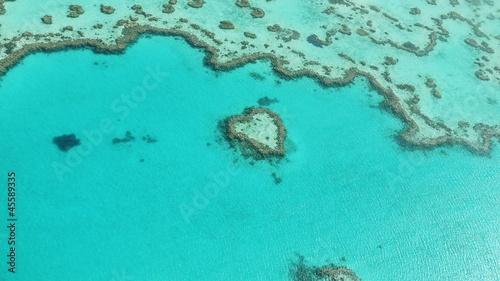 In de dag Australië Korallenriff Heart Reef im Great Barrier Reef in Australien - Luftaufnahme