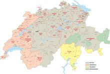 Schweiz, Sprachgebiete
