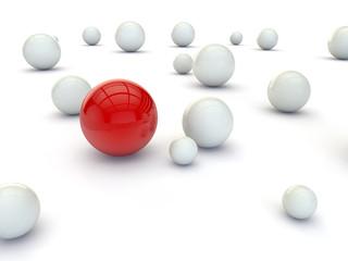 Individuality balls 3d ren...