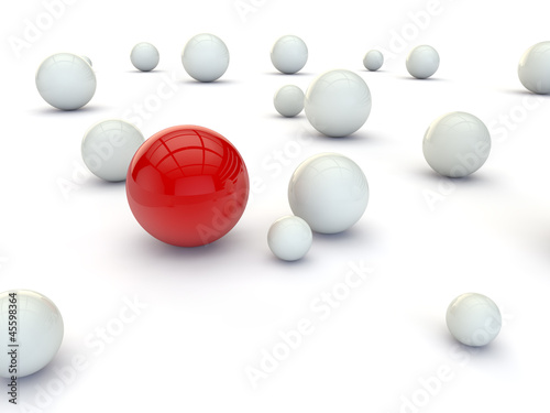 Individuality balls 3d rend...