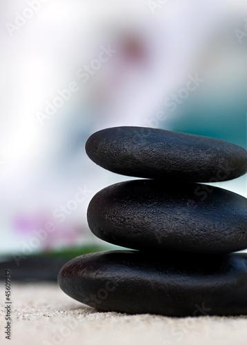Spoed Foto op Canvas Zen Balance | Stein Pyramide | Wellness Steine | sRGB