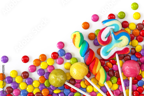 Foto op Plexiglas Snoepjes Mixed colorful sweets