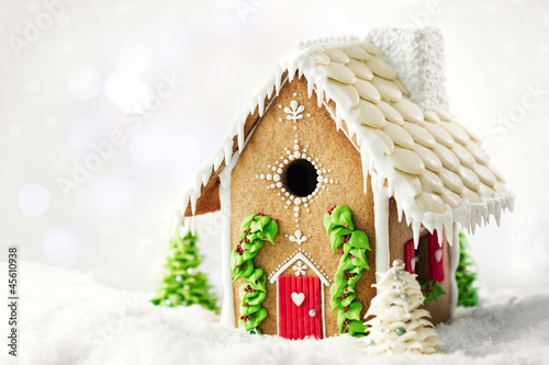 Foto op Canvas Kerstmis Gingerbread house