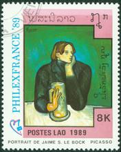 "Stamp Shows Painting ""Jaime Bo..."