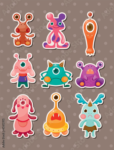 Poster de jardin Creatures monster stickers