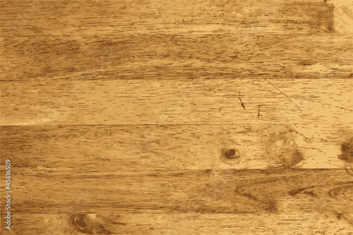Photo Stands Wood Wood plank brown texture background, Vector illustration