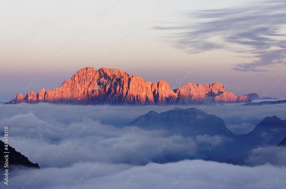 Fotografie, Obraz  Dolomiti Monte Civetta